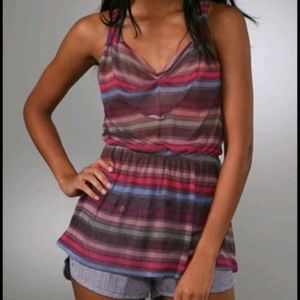 Free People Super Stripe Cinched Waist Tank Top